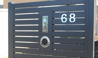 Steel Slat Powder Coated Letterbox